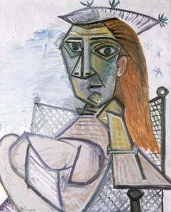 Mujer-sentada-en-un-sillon-picasso